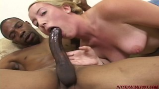 Young Jamie Rae takes a huge black cock rampage Tits 3some