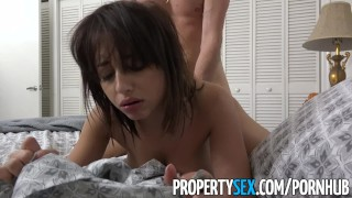 Tits fucks propertysex natural host's guest big big bnb with cock boobs bnb