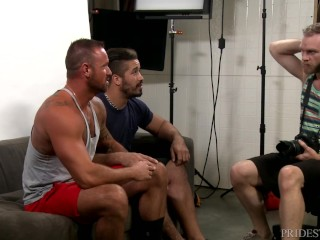 Group Sex With Hairy Muscle Hunk Daddies & Cumshots