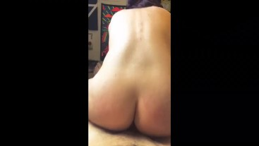 I orgasm while riding reverse cowgirl!!