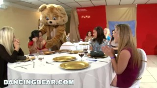 DANCING BEAR - CFNM Party Featuring Big Dick Male Strippers And Horny Girls