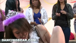 DANCING BEAR - Christie's Bachelorette Party With The Dancing Bear Blonde tatum