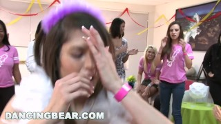 Bear party dancing with bear dancing bachelorette christie's the dick party