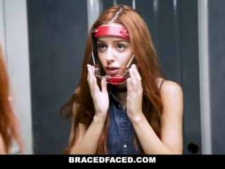 BraceFaced - Horny Teen Gets Harness Fucked Off