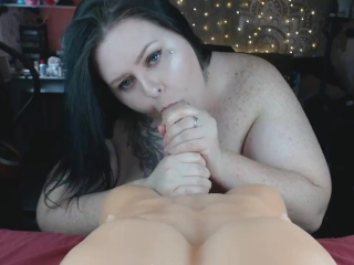 BBW Whore Begs For Cum In Her Mouth