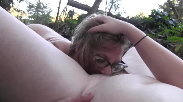 Lesbians Jolene Parton and Maggie Mayhem work out some stress outdoors 7