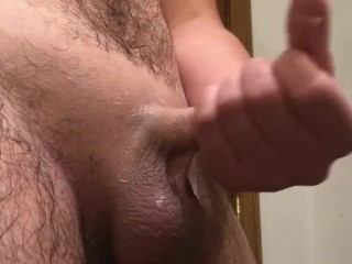 Did his dick just triple??? Hot cumshot