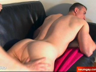 Straight military guy serviced in gay porn in spite of him.