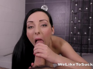 Cock Sucking - Polish babe Ivanna makes her debut taking a facial