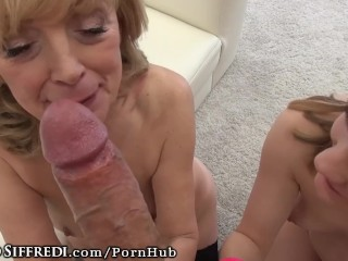 Amateur Euro Teen + Anal + CUMSHOT IN MATURE GRANNY MOUTH!