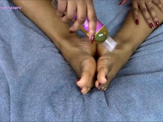 Rusty Red Toe Polish and Oil