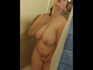 spying on showering housewife touching herself