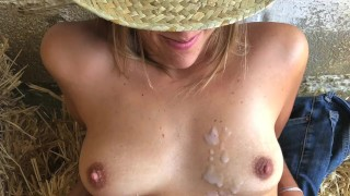 She Smiles As She Gets My Huge Load Of Cum - Outdoor Cumshot In The Hey Marisol masturbation