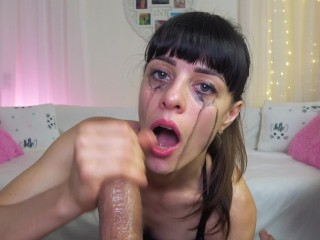 Sloppy blowjob with my fuck toy