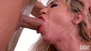 Submissive Anal Milf Nikki Gets Spanked, Choked & Fucked Balls Deep