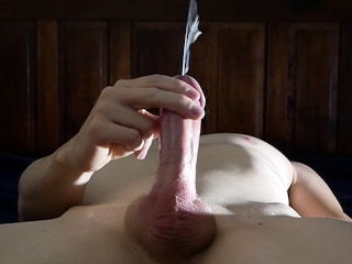 An explosive orgasm after 24 hours of edging