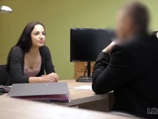 LOAN4K. Skinny miss pays with sex for realization of business plan