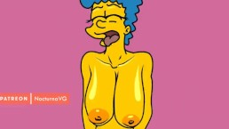 Marge Simpson riding dick