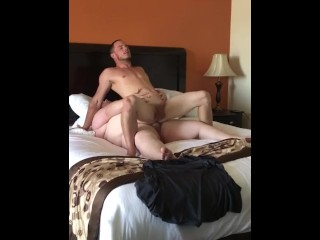 Chaser rides chubs fat cock
