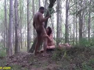 Preview 4 of milf outdoor interracial big cock fucked