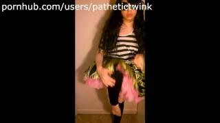 Asian Slut Strips, Wedgies, and Spanks Self (Yet Again!)