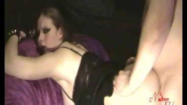Gothic Punk bitch fucked horny and cum on the ass - Nadine Cays