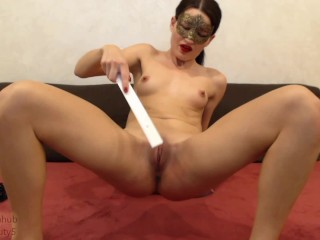self punishment pt3, 500+ spanks, slaps, whip, ruler, paddle PAIN then cum