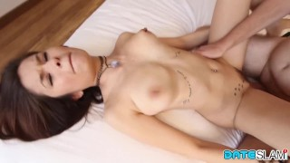 Date slut with st  asian ends with part slam date creampie job slim