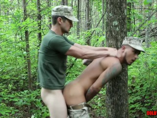 Hot marines with big dicks meet up and...