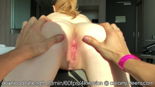 Redhead Teen with a Tight Pink Creamy Pussy