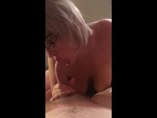 Blowjob in lingerie with CIM