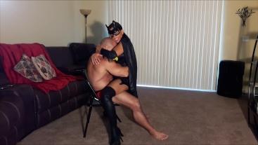 Bat girl lap dance