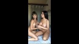 Lana Rhoades & Riley Reid beg for your cum