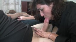 Chastity's cumming while sucking