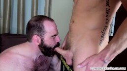 Mature bear slammed doggystyle bareback
