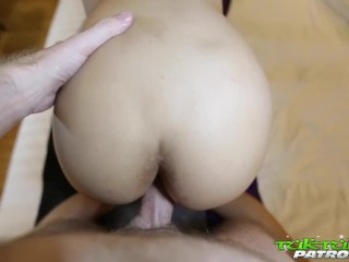 Tuk Tuk Patrol – Tiny young Thai babe takes on big white cock – Part 2