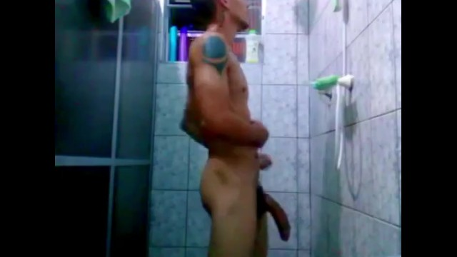 Gay spy cam pic Spy cam , military take a shower and his cock is very big