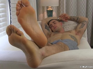 Handsome teaser KC seduces you with his yummy feet
