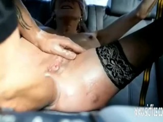 Punch fisting his wifes prolapsing holes