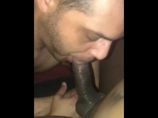Making my sissy fag suck this...