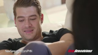 Ebony Harley Dean Wants Her Brother's Big Cock Tits sucking