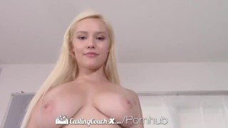Casting busty thick fucks blonde castingcouchx agent fuck pussy