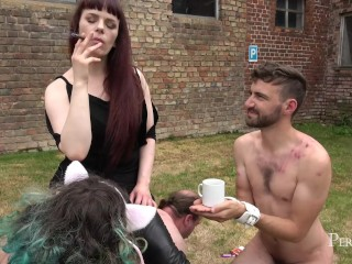 Little Break With Cigar - Mistress Rebekka Rests After Hard Day