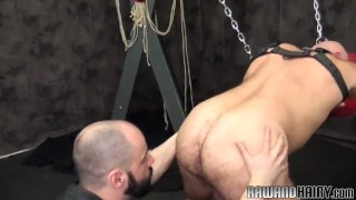 Bald bear duo bareback assfucking doggystyle