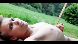Young straight teen public masturbation in the forest