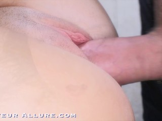 18 yr old Grocery Cashier Sucks Cock, Gets Fucked and Swallows a Hot Load