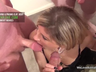 Preview 3 of Classy MILF not afraid to take facial cum off strangers
