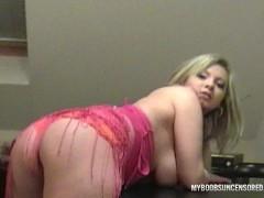 Busty teen Malina May as Secretary masturbate on desk