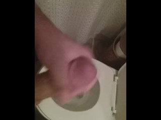 Busting a load in my friend's bathroom