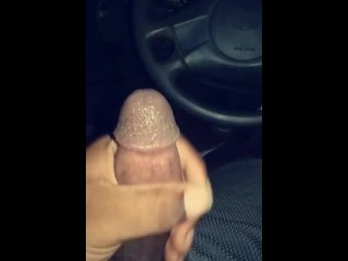 Rubbing a nut out in a packed parking lot.